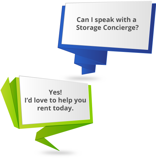 Free Storage Concierge Service