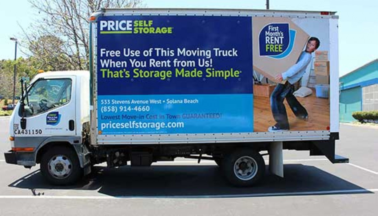 Price Self Storage 14 ft moving truck