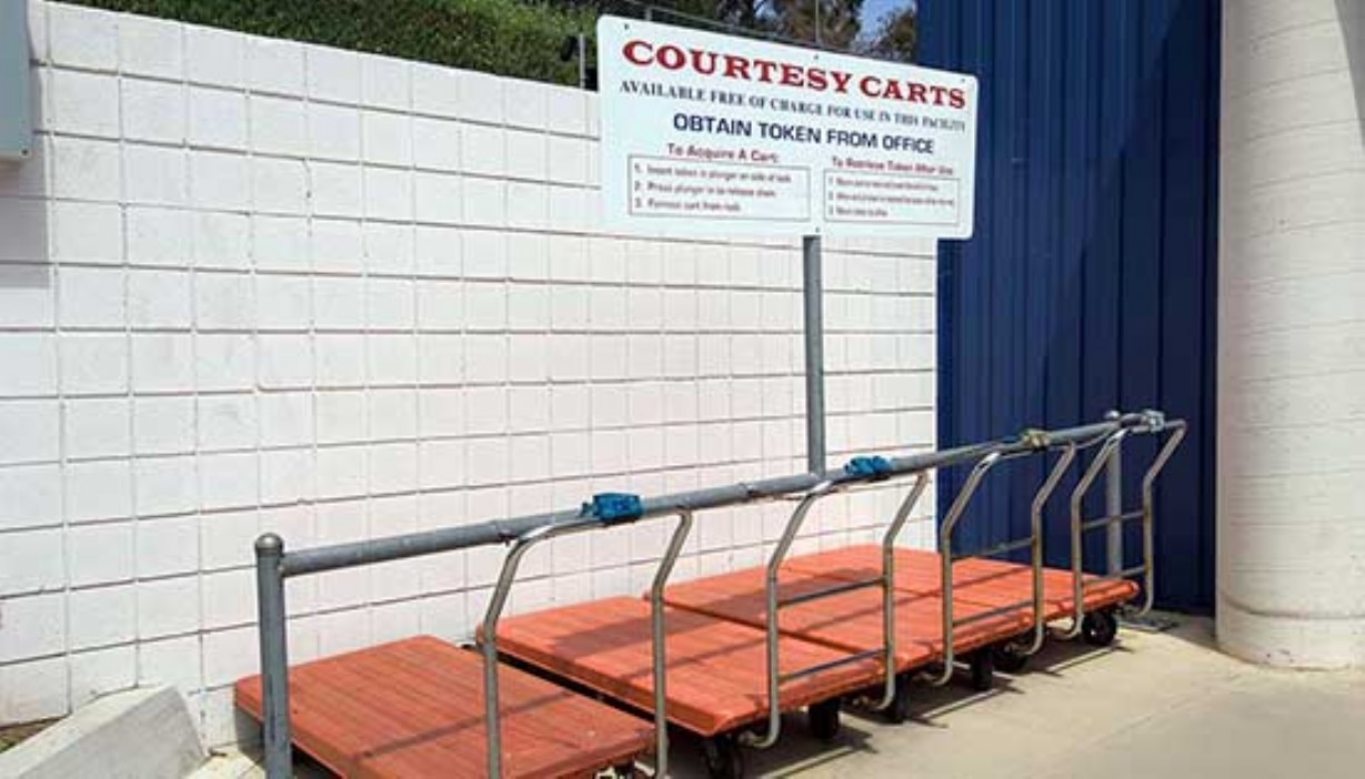 Price Self Storage Solana Beach moving cart station