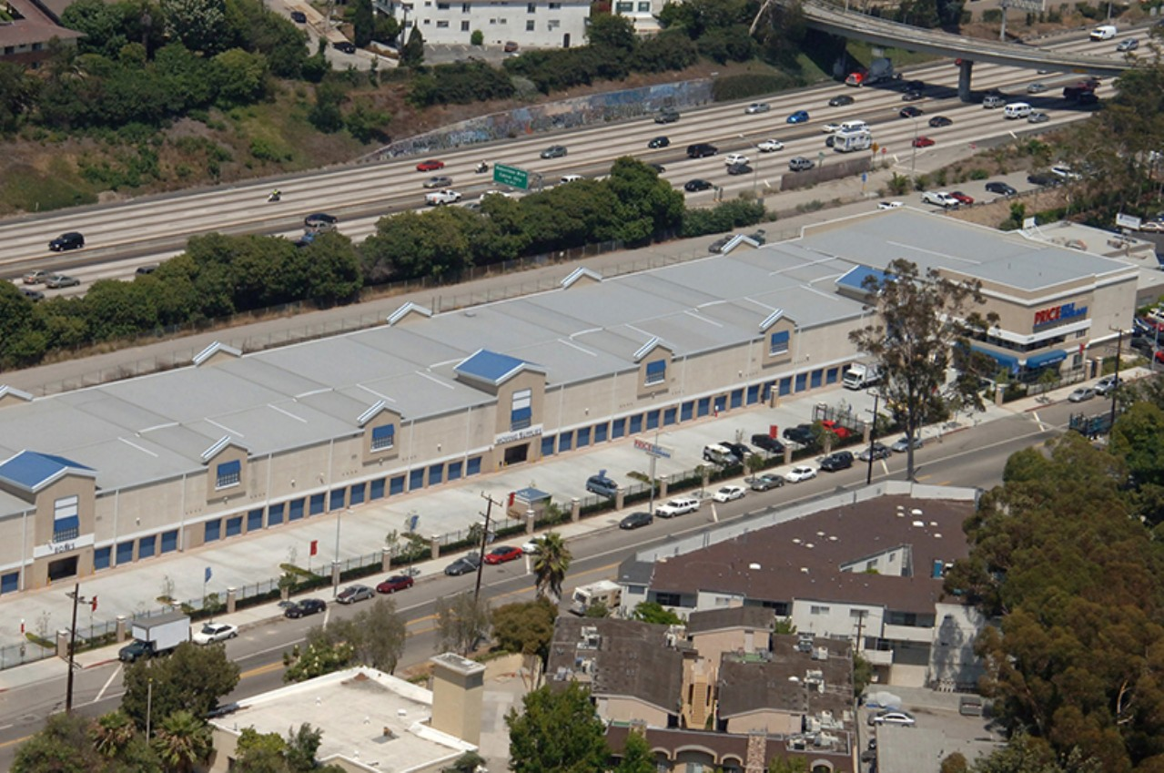Price Self Storage National Blvd aerial view