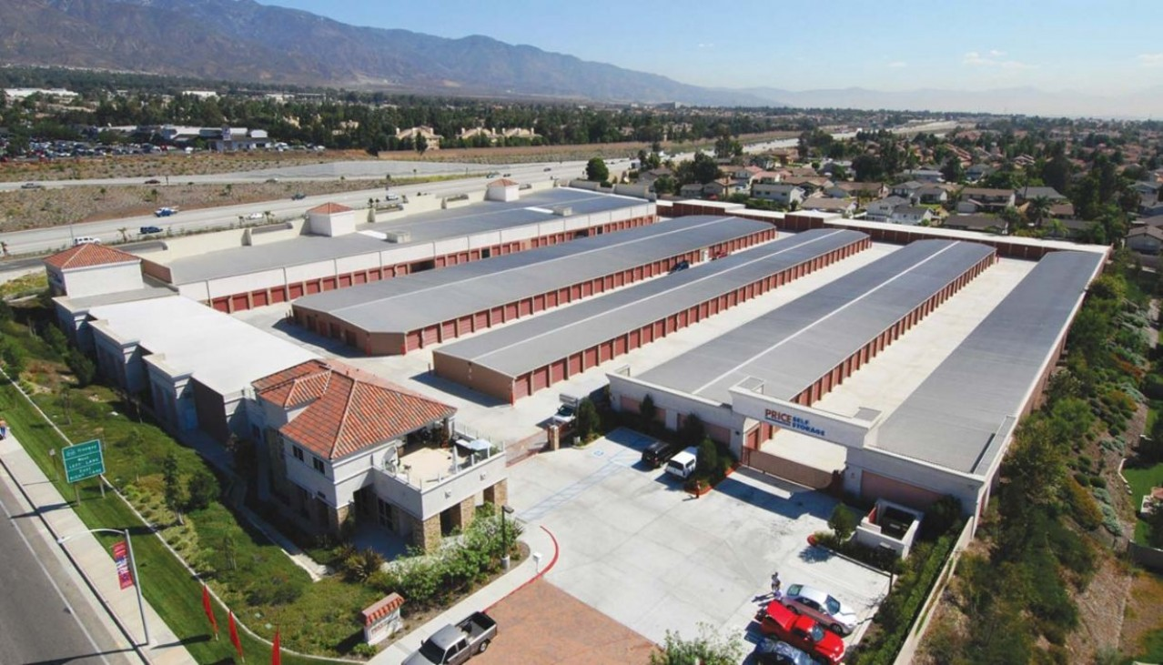 Price Self Storage Rancho Cucamonga Haven Avenue aerial view of the facility