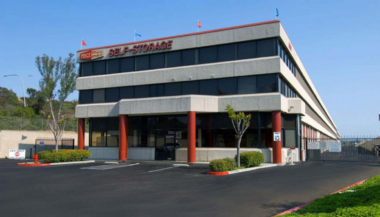 Price Self Storage Murphy Canyon Rd facility rental office building entrance