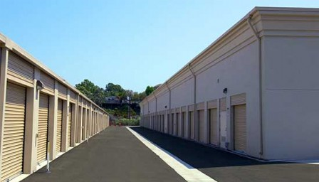 Drive Aisle With Drive Up Self Storage Units Each Side