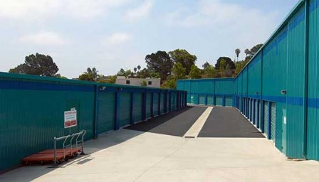 Price Self Storage Solana Beach drive up storage units section