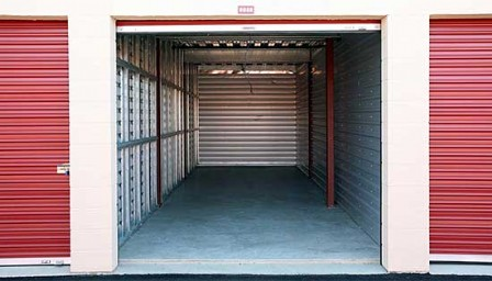 Price Self Storage Santee view of inside a drive up access garage sized storage unit with & Santee Self Storage Units on Buena Vista Ave | Price Self Storage