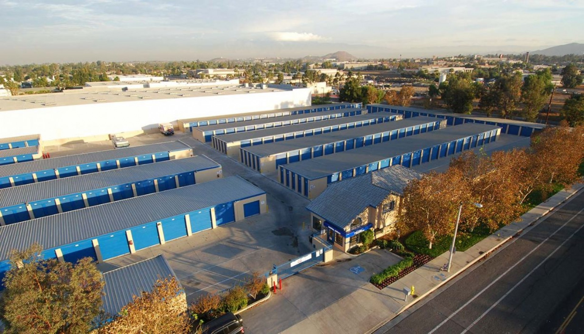 Price Self Storage Norco aerial view of the facility