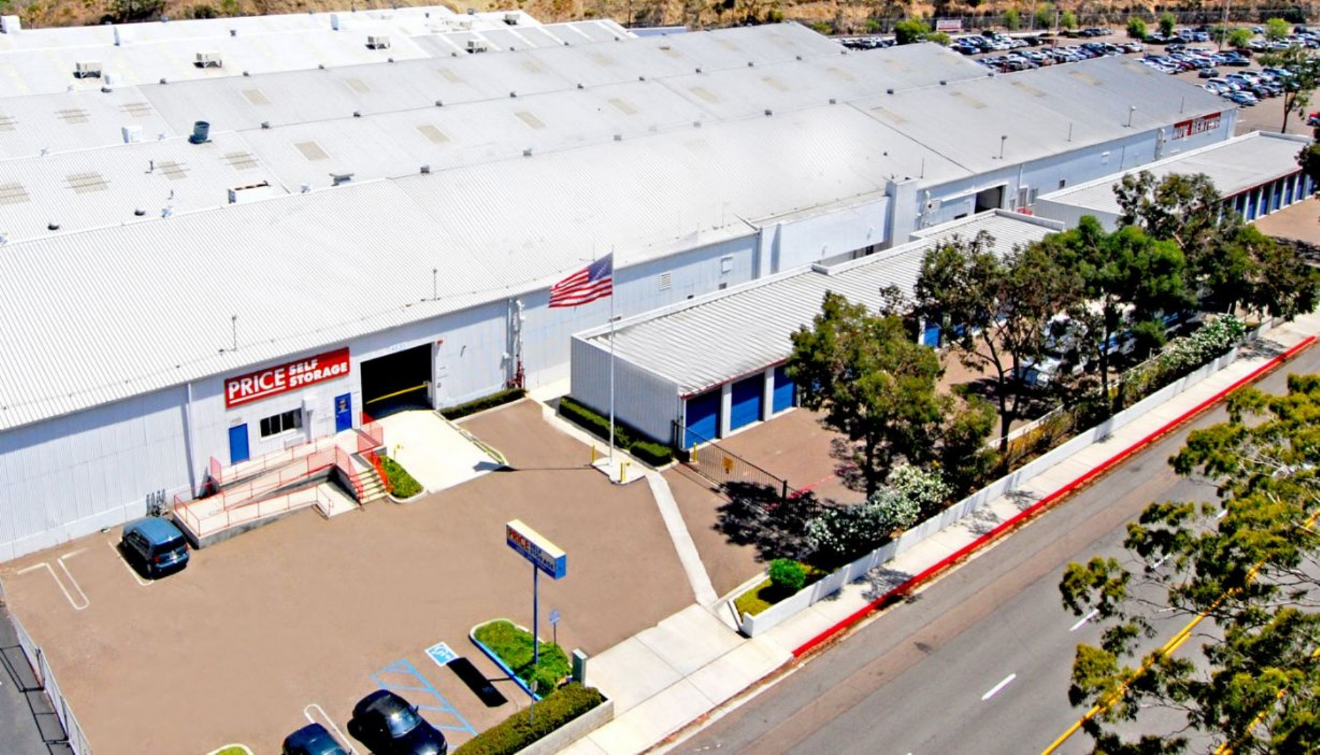 Price Self Storage Morena Blvd facility aerial view
