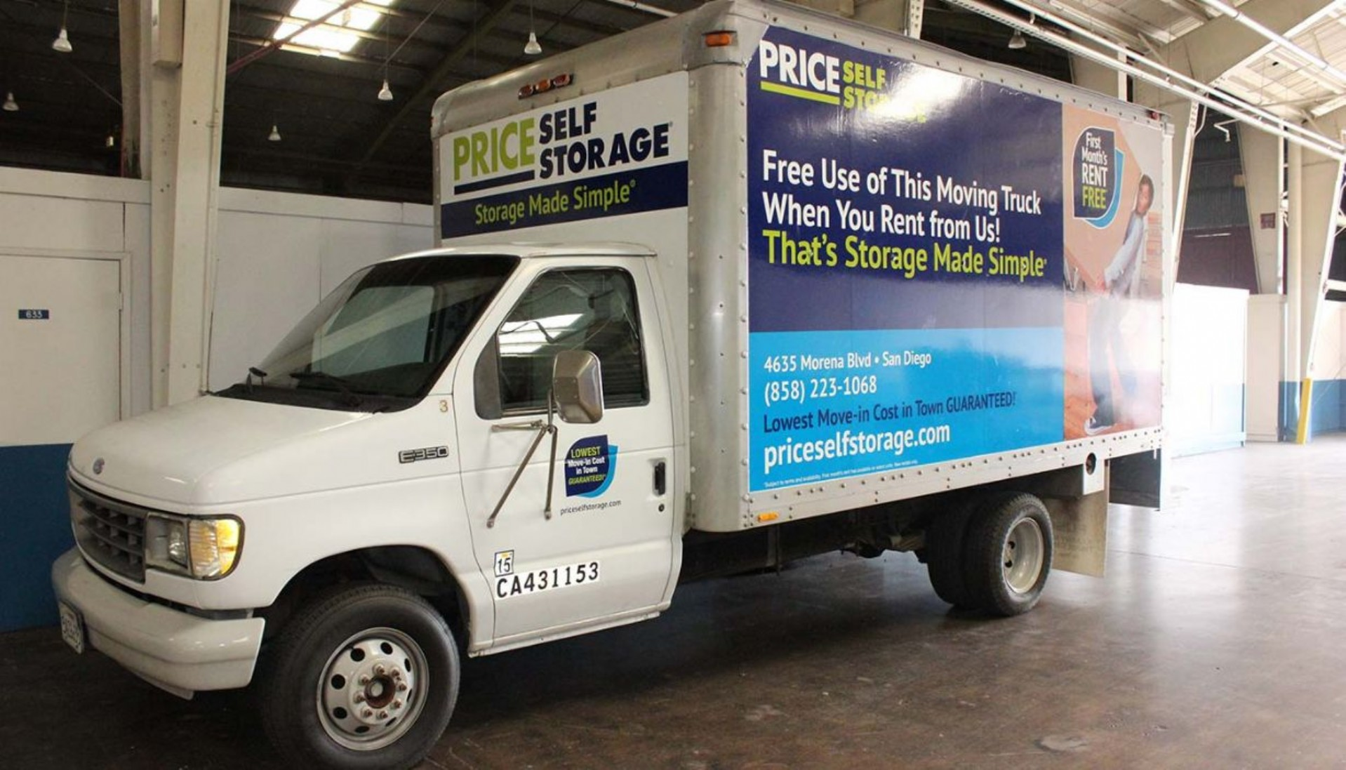 Price Self Storage Morena Blvd 14 ft. moving truck