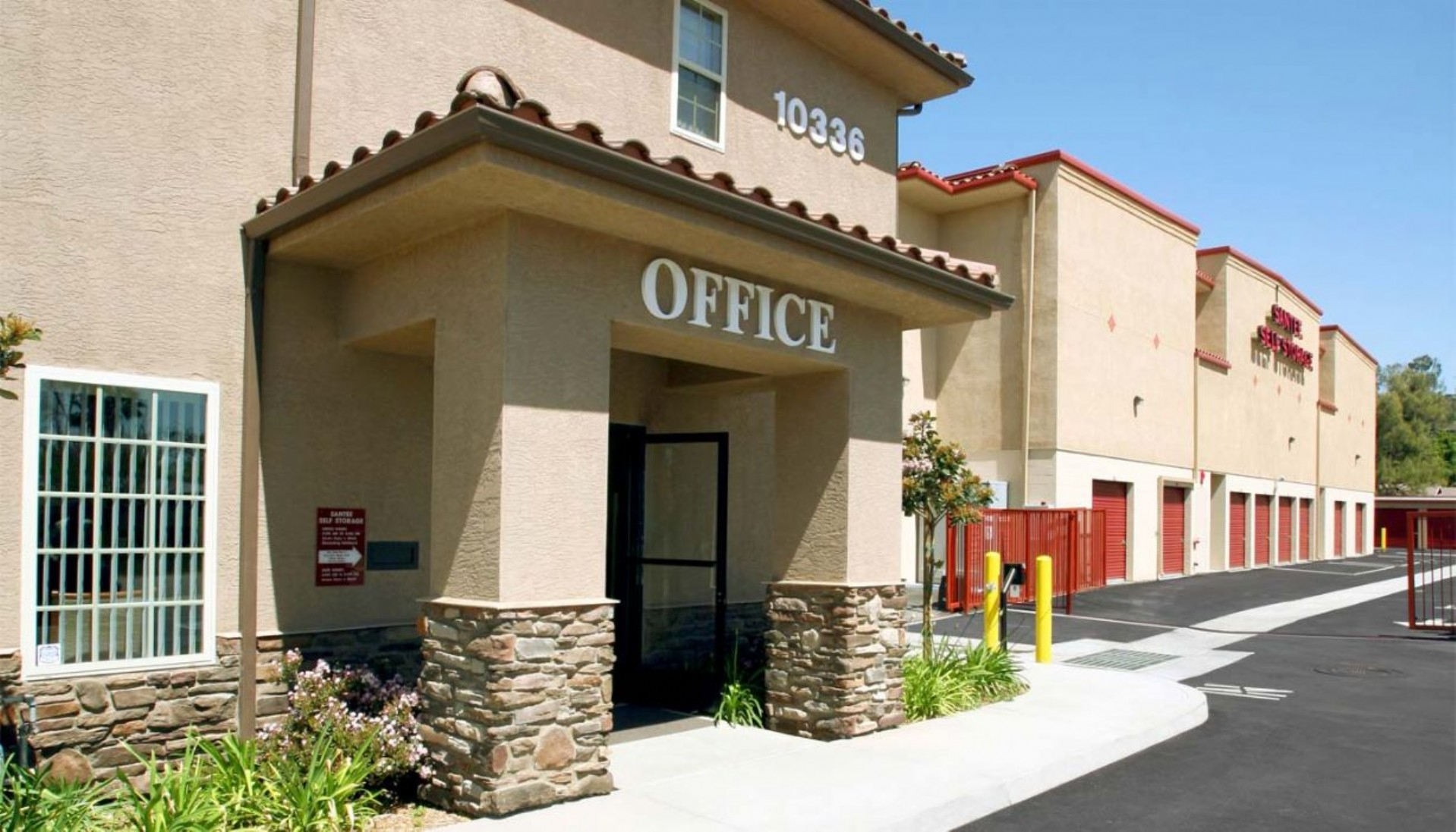 Price Self Storage Santee front of rental office building